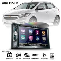 Central Multimidia MP5 DVD Ônix Prisma Joy Spin Cobalt 2012 a 2019 Câmera GPS TV BT Espelhamento - Uberparts