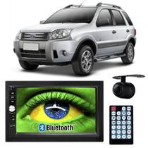 Central Multimídia Mp5 Ecosport 05 à 12 D720BT Moldura 2 Din Bluetooth Câmera Ré - Exbom