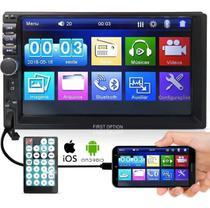 Central Multimídia Mp5 Espelhamento Bluetooth 2din Universal+ Câmera Ré - Lelong