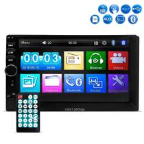 Central Multimídia MP5 First Option 7810H Tela 7 Espelhamento Bluetooth USB SD AUX Radio -