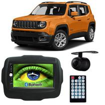 Central Multimídia Mp5 Jeep Renegade 2015 à 2017 D720BT Moldura 2 Din Preta Usb Bluetooth Câmera Ré - Exbom
