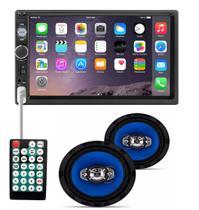 Central Multimidia Mp5 Universal 2din Bluetooth Espelhamento Usb  + 6 Polegadas - Import Ts