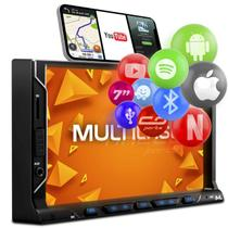 "Central Multimídia Multilaser Evolve Fit S P3340 7"" BT Espelhamento Android iOS USB SD FM Auxiliar -"