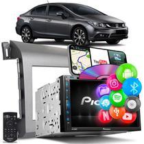 Central Multimídia New Civic Pioneer AVH-Z5280TV 2 Din TV BT USB Espelha Android iOS Grafite -