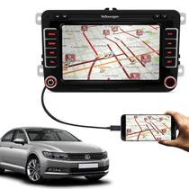 Central Multimídia Passat 14 a 18 7 Pol Espelhamento Android iOS TV Digital Bluetooth GPS USB AUX SD