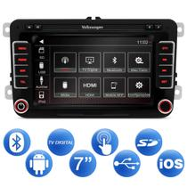 Central Multimídia Passat 14 a 18 7 Pol Espelhamento Android iOS TV Digital Bluetooth GPS USB AUX SD - Icone