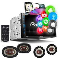 """Central Multimídia Pioneer 2 Din AVH-Z5280TV 6.8"""" TV BT Espelhamento Android Iphone + Falante 6x9 -"""