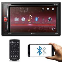 "Central Multimídia Pioneer AVH-A218BT 2 Din 6.2"" Bluetooth DVD USB AUX WMA MP3 FM AM Controle Remoto -"