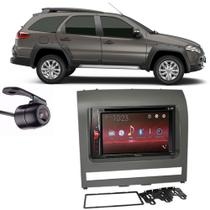 Central Multimídia Pioneer Avh-A218bt + Moldura 2 Din + Câmera Ré Palio Adventure 2012 - Central pioneer