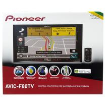 Central Multimidia Pioneer Avic-f80tv Bluetooth Tv Digital MIxtrax Apple Carplay Gps sd 7 polegadas