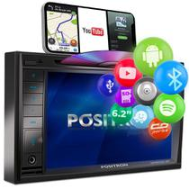 Central Multimídia Pósitron 2 Din SP8530 BT 6.2 Bluetooth Espelhamento Android MP3 DVD USB AUX FM - Positron