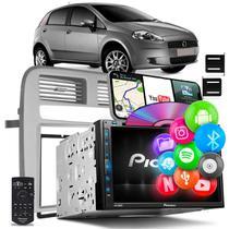 Central Multimídia Punto 08 a 12 Pioneer AVH-Z5280TV 2 DinTV BT Espelhamento Android iOS Prata -