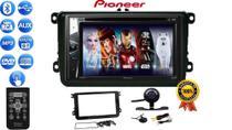 Central Multimidia Rádio Pioneer Bluetooth CD DVD USB + Câmera Ré Moldura GOL G7 JETTA TIGUAN AMAROK -