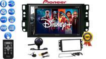 Central Multimidia Rádio Pioneer C/ Bluetooth CD DVD USB E Controle + Câmera Ré  Moldura Captiva -