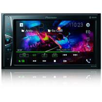 Central Multimidia Renault Sandero Expression 2007 a 2012 com Pioneer DMH-G228BT, Camera de Re, Moldura e Interface -