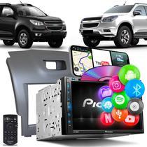 Central Multimídia S10 Trailblazer Pioneer AVH-Z5280TV 2 Din TV BT USB Espelhamento Android iOS -