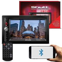 Central Multimídia Shutt Chicago 6.5 Pol 2 Din Bluetooth Touch Usb Sd Mp3 P2 Áudio Streaming Fm Am