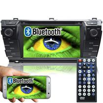 Central Multimídia Toyota Corolla 2014 à 2017 Original Tela 8 Dvd Usb Tv Bluetooth Gps Espelhamento - Tay tech