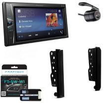 Central Multimidia Toyota Hilux SRV STD SW4 2005 a 2012 com Pioneer DMH-G228BT, Camera de Re, Moldura e Interface -