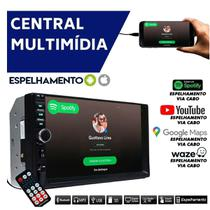 Central Multimidia Tv Digital 2 Din Automotivo Mp5 Player 7Pol Espelhamento Celular Bluetooth Usb Sd - First Option