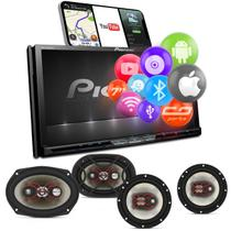 "Central Multimidia TV Pioneer AVH-Z9280TV 7"" BT Espelhamento Android Iphone DVD + Falantes Bravox -"