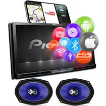 "Central Multimidia TV Pioneer AVH-Z9280TV 7"" BT Espelhamento Android Iphone DVD + Falantes Shutt 6x9 -"