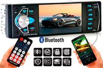 Central Multimídia Universal 1din Usb Bluetooth Espelhamento  Mp5 Mp4 Mp3 - Oestesom