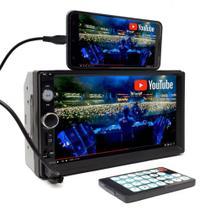 Central Multimídia Universal Dvd 2 Din Mp5 Bluetooth Usb Aparelho Rádio Automotivo Som - Knup