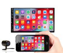 Central Multimídia Universal Mp5 2 Din Câmera Ré Espelhamento Android e iPhone Bluetooth USB e SD - Voolt