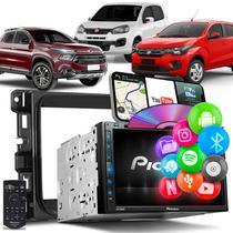 Central Multimídia Uno Toro Mobi Pioneer AVH-Z5280TV 2 Din TV BT Espelha Android iOS Black Piano -