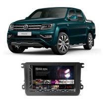 Central Multimídia Volkswagen Amarok 2010 a 2019 Espelhamento iOS Android 7 Polegadas Bluetooth USB SD Fm - Gold