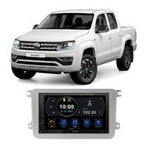 Central Multimídia Volkswagen Amarok 2010 a 2021 7 Polegadas Espelhamento Android iOS BT USB SD FM - Premium