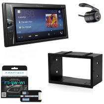 Central Multimidia VW Golf 2008 a 2013 com Pioneer DMH-G228BT, Camera de Re, Moldura e Interface -