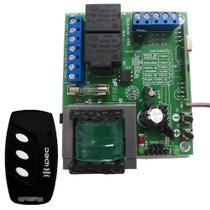 Central Placa Portão Eletrônico Rcg Cca-10 Clp + 1 Controle 3 Canais com Clip de Fixação -