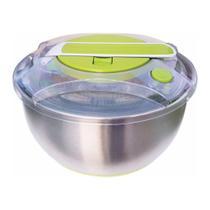 Centrífuga e Secadora de Saladas FRESH Inox / Verde 5 Litros - Bela