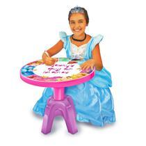 Centro de Atividades Infantil Princesas Disney 3em1 Cadeira + Mesa - Lider Brinquedos