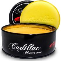 Cera De Carnauba Cleaner Wax 150g  Com aplicador - Cadillac -