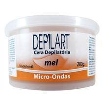 Cera Depilatória Microondas Mel - 200g - Depilart
