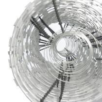 Cerca concertina dupla galvanizada eletrificada 45cm caixa para 05 metros (40 voltas) - Hf Metalúrgica