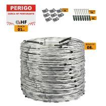 Cerca concertina dupla galvanizada eletrificada 45cm caixa para 08 metros (56 voltas) - Hf Metalúrgica