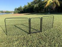 Cercado Cães Canil Pet Util 2/90 Com Portão e Kit Preto -