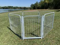 Cercado Cães Canil  Pet Util 5/90 Com Portão e Kit Fixação Branco -