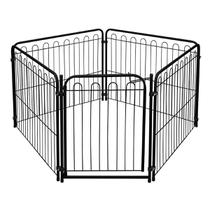 Cercado Dobrável Pet Mix 4 Lados Cachorro Cães Bebê Preto - Açomix
