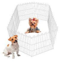 Cercado Pet Cachorros Cães Coelhos Gatos 8 Lados 60alt X55c - Plug Lar
