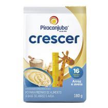 Cereal Infantil Piracanjuba Crescer Arroz Aveia 180g Pouch -