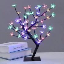 Cerejeira arvore pisca pisca led colorida bonsai 40cm 110v - Oem
