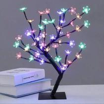 Cerejeira arvore pisca pisca led colorida bonsai 40cm 110v - Oem -