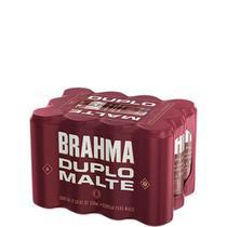 Cerveja Brahma Duplo Malte Lata 350ml - Pack com 12 unidades -