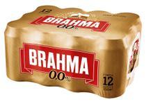 Cerveja Brahma Zero Descartável Lata 350ml - c/ 12 -