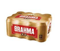 Cerveja Brahma Zero Lata - 350ml - Pack com 12 unidades -